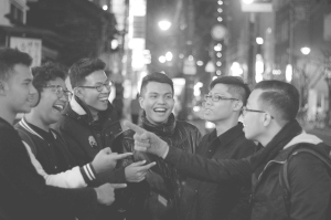 LAUGH BOYS IN MATSUYAMA bw